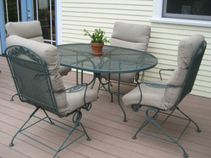 steel patio dining sets
